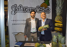 Jai and Rodney Thakrar from Jalaram Fruit with pineapple from Costa Rica.
