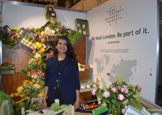 Zeenat Anjari with a beautiful display of fruit and vegetables from New Covent Garden Market.