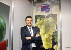 Saverio Fuccillo, sales export manager of Peviani. Among the most exported products, there are mini seedless watermelons and seedless table grapes.