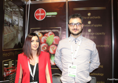 Maja Uroevic, commercial director for Ciric Agro, and Petar Popovic from Green Energy Group. Both the companies are Serbian and involved . Ciric Agro produces 15 apple varieties.