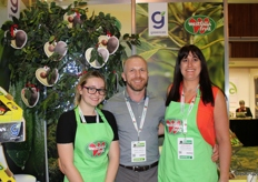 Jess Craften, Matthew Churchill and Sarah Gibson from Greencell Westfalia. The avocado experts ripen, pack and supply to the retail, foodservice and wholesale sectors in the UK.