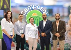 The Camposol team is looking forward to the start of the Peruvian blueberry season. In the photo are Carmen Puerta, Armando Rojas, Nairobi Lopez, Jose Antonio Gmez Bazn and Mauro Sangio.