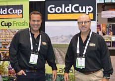 Bruno Giribaldi and Frank Telge with GoldCup Fresh.