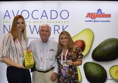 Gwendolyn Jackimek, Ross Wileman and Jenna Rose Lee with Mission Produce show Emeralds in the Roughavocados and organic avocados.