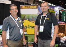 Charles Poches and Doug Bulgrin with Gumz Farms out of Wisconsin exhibit at United Fresh for the first time.