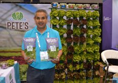 Baltazar Garcia with Petes is very excited about the companys new Wonder Cress product.