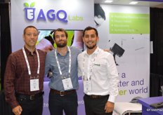 Brady Jones, Patrick Brennan and Andres Jimenez with AGQ Labs.