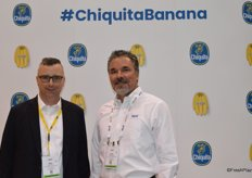 Mike Vesely and Chris Maganas with Chiquita.