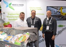 Ross Lund with ProEx Food and Jeremy Walker Brian Gebauer with Consolidated Construction Co, Inc. Consolidated Construction designs, plans and builds new facilities for different industries, including produce.