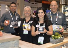 Jerry Moran, Jill Overdorf, Jaqueline Padilla and Kasey Kelley with Naturipe Farms show different packaging for blueberries as well as the new blazeberries. Its a new raspberry variety the company is trialing.