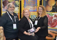 The Kragie Family. From left to right are George, Carrie and Susan with Western Fresh Marketing, showing California-grown Black Mission figs.