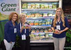 Showing the new products from Green Giant are Tristan Simpson, Nancy Bryner and Callie Whitney.
