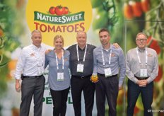 The team of NatureSweet Tomatoes. From left to right: Michael Joergensen, Summer Jones, Jim McErlean, Andy Goldring and Bruce Gilkerson.