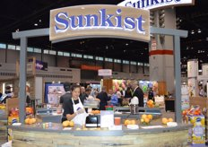 The Sunkist booth.