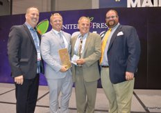 RJ Hassler and Rick Hassler receive the Award for Best New Food Safety Solution for the third year in a row with their Food Freshness Card.