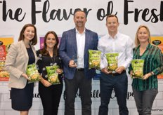 The team of Taylor Farms proudly shows its Avocado Ranch chopped salad that received an award for Best New Vegetable Product.