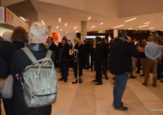 Delegates waiting to register and enter the trade show.