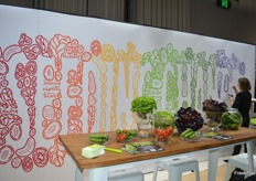 A mural was being painted on the Rijk Zwaan stand.