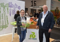 Stephanie Knight - Rijk Zwaan with Theo Jacometti from Boomaroo Nurseries.