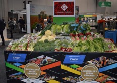 Vegetable display from Gazzola Farms