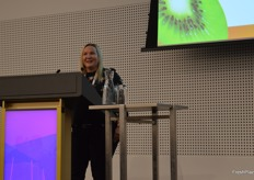 Janice Byrnes - Zespri showed some of the company's recent marketing videos.