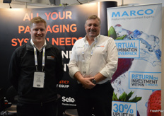 Leigh Conduit and Scott Smith from Select Equipment who have become the sole distributor for Marco a UK company with weighing solutions.