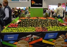 Display of fruit from Produce Time.