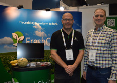 Greg Calvert and Lester Doecke from Fresh Chain providing an end to end traceability solution.