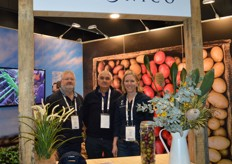 Les Ollington, Julian Shaw and Kate Shaw from Agronico.