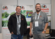 Glenn Cornell and Brian Clark from Redpath Greenhouses.