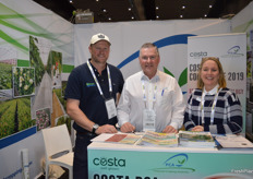 Adam Upton - Upton Agronomy, Jonathan Eccles and Nicky Mann at Protected Cropping Australia.