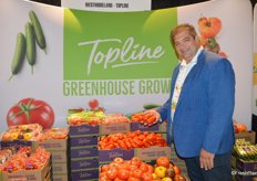 Dino Dilaudo with TopLine - Westmoreland Sales shows San Marzano style Roma tomatoes. The majority of the company's business is food retail, but because of the consistency in quality and supply of greenhouse grown produce, the company feels it can make a difference in the foodservice segment.