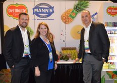 Justin Whitcomb, Amanda Costa and Jeff Murray with Del Monte Fresh Produce.