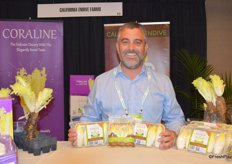 Paul Pieretti with California Endive Farms shows different packaging options for white endive.