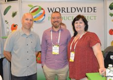 Bryan Thornton, Jonathan Roussel and Pam Wooten with Worldwide Produce Direct.