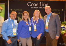 The team of Coastline Family Farms: Tony Ojeda, Carmen Placensia, Alison Pilcher and Robert Verloop. The company's booth was the Best of Show 2nd place winner.