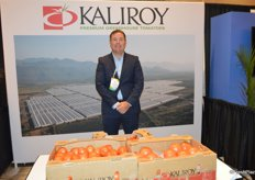 Tom Lyons with Kaliroy who grows round, Roma and grape tomatoes in Mexico. The company is fully vertically integrated and now directly sells to foodservice and retail.