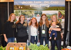 The team from Jacobs Farm-Del Cabo: Chris Miele, Monica Jacobs, Shannon Youmans, Wylie Bird, Kyla Oberman and her 3-month old son Hudson.