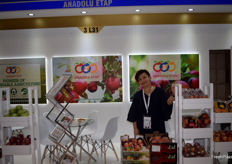 Aysel representing the Turkish exporter Anadolu Etap. They export apples amongst other fruits.