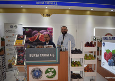 Export Manager Mustafa Subasi and General manager Fetullah Bingul of Turkish exporter Bursa Tarim A.S. They export Bursa figs to Europe and Asia.