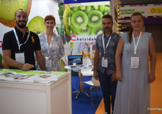 Greek exporters Chatzidaki were a part of the Greek pavillion. From left to right; Stanley Blagos, Vassiliti Hartogianni, Spyros Chaliteas and Anastasia Chatzidaki. Their main product is kiwis.