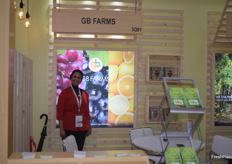 Ghabbour Farms sent the lovely Esraa Assaf to Asia Fruit Loigistica. They deal mostly in sweet potatoes, grapes and citrus. Assaf said to have had a pretty good fair with good quality meetings.