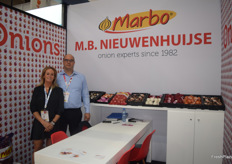 Koen Nieuwenhuijse and his wife Margriet Nieuwenhuijse of Marbo from the Netherlands, they export Onions and are a first time exhibitor at Asia Fruit Logistica.