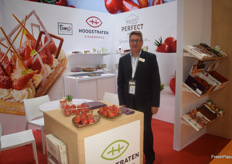 Luc Bruneel of Belgian exporter Hoogstraten, their main product is strawberries.