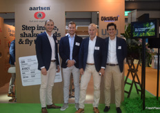 The team of Aartsen, Jasper van der Sandt, Gijs Aartsen, Jack Aartsen and Menno van Breemen. They recently changed their name from Aarsten Fruit to just Aartsen. Their stand represented a Box with holes, which peaked curiosity from quite a few visitors.