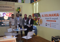 Second from the left is Mr Amr Soliman, the CEO of Egyptian exporter Al Solimania.