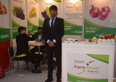 Akshay Sangle of Sangle's Farm Fresh Exports. They export grapes and pomegranates from India.