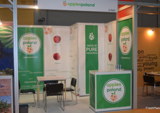 Some of the stands at Asia Fruit Logistica stayed empty during the exhibition.