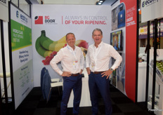 Technical Director Leon Hooghart and CEO Jan van Kessel of BG Door. They install cold rooms.