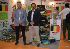 Belgian exporters DBS Agro were in Hong Kong to showcase their vegetables. On the left is Victor Bernad and on the right is Gunther De Boelpaep.